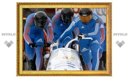 Российские бобслеисты выиграли золото на чемпионате мира