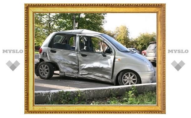 Suzuki Grand Vitara протаранил Daewoo Matiz