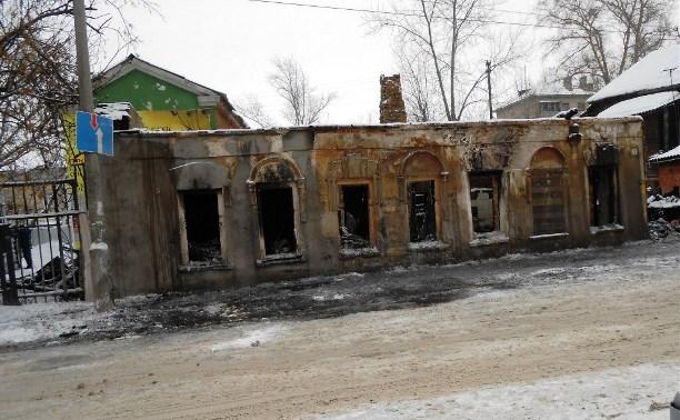 В Туле разбирают завалы после пожара в Бухоновском переулке