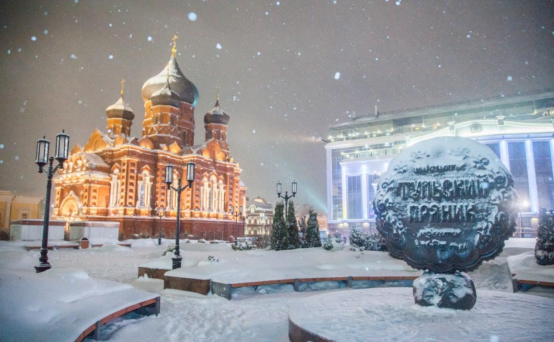 Вечерний снегопад в Туле: фоторепортаж