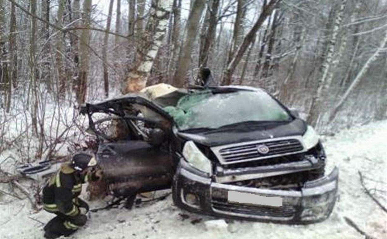 В аварии под Тулой пострадала женщина