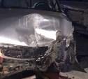 В Тульской области Hyundai Santa Fe протаранил Mercedes-Benz