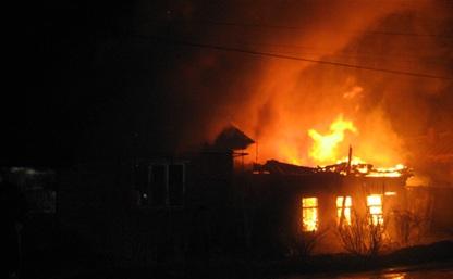 В Туле пожар уничтожил два частных дома