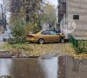 На ул. Фридриха Энгельса в Туле водитель Subaru влетел в пятиэтажку