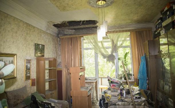 В Туле на улице Металлургов рухнул потолок жилой квартиры