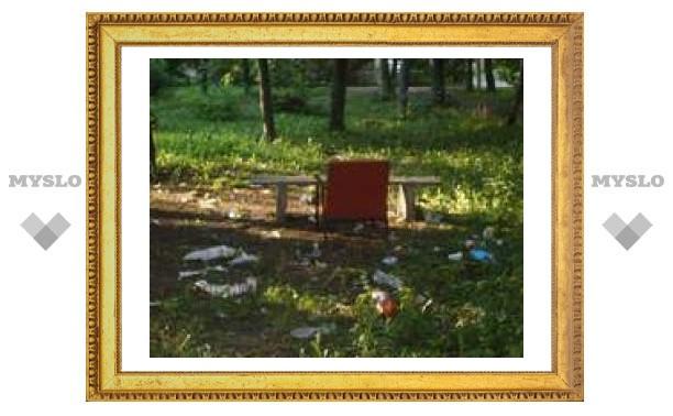 Помойка в Туле на детской площадке