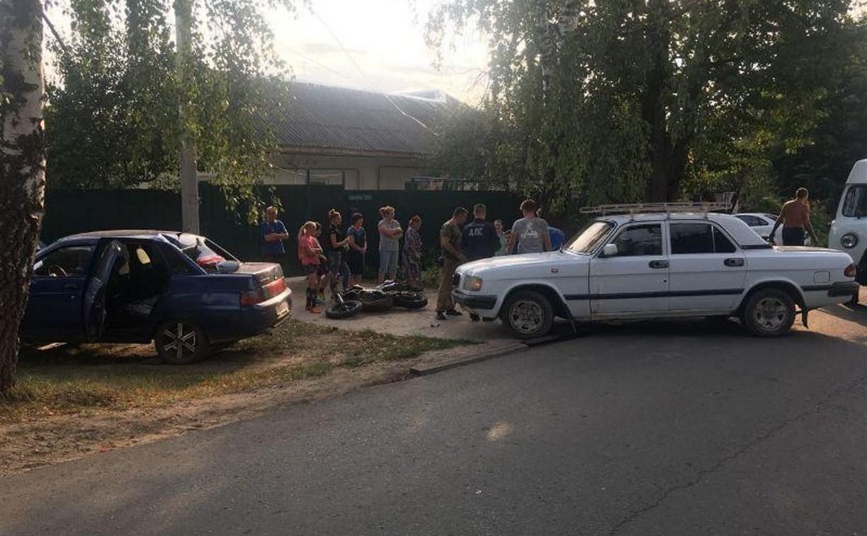 В Алексине 16-летний парень на мопеде устроил серьезное ДТП
