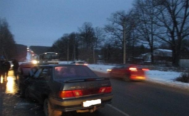 На Орловском шоссе произошло массовое ДТП