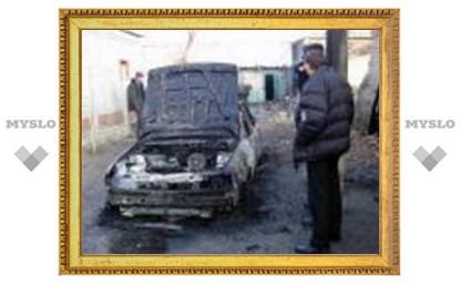 Туляк сгорел в собственной машине
