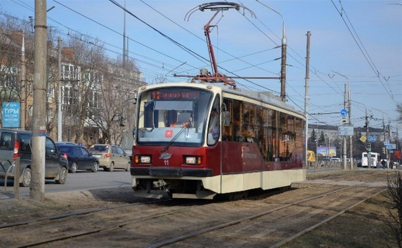 В Туле на улице Руднева ограничено движение трамваев