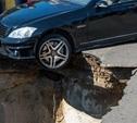 На Одоевском шоссе в Туле провалился асфальт