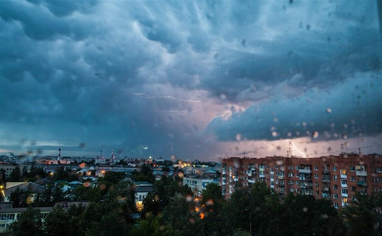 В понедельник в Тульской области ожидается гроза