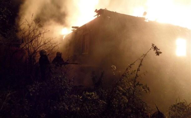 Ночью пожар в Туле тушили 22 человека