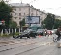 В Туле на проспекте Ленина столкнулись Daewoo Nexia и Chevrolet Lanos