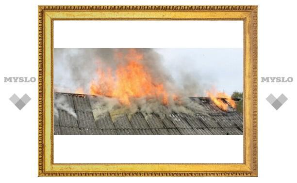 Туляк едва не сгорел в собственном доме