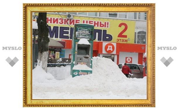 Тульские предприниматели отказались чистить снег вокруг своих офисов и магазинов