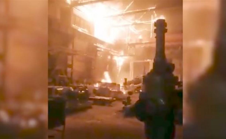 «Бегите на *** оттуда»: в Алексине пожар на «Тяжпромарматуре» рабочие сняли на видео