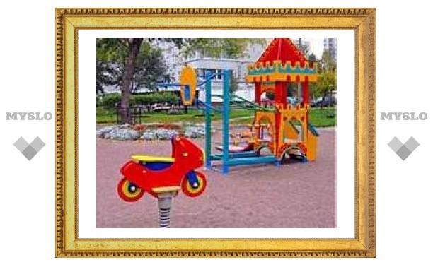 В Туле ремонтируют детские городки