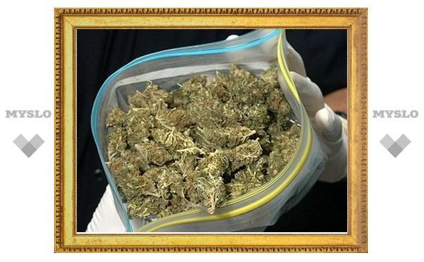 Под Тулой сотрудники ФСКН нашли более 1300 г марихуаны