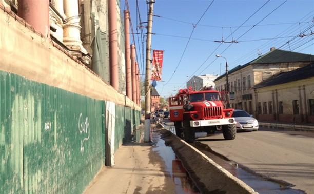 Пожар в Туле едва не помешал проведению репетиции военного парада