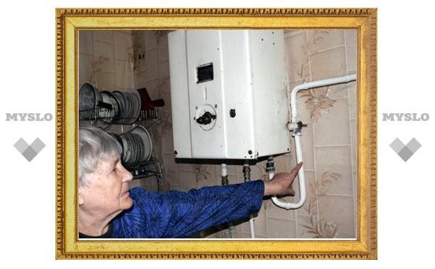 У тулячки украли газовую колонку