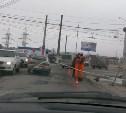 В Пролетарском районе ремонтируют дороги