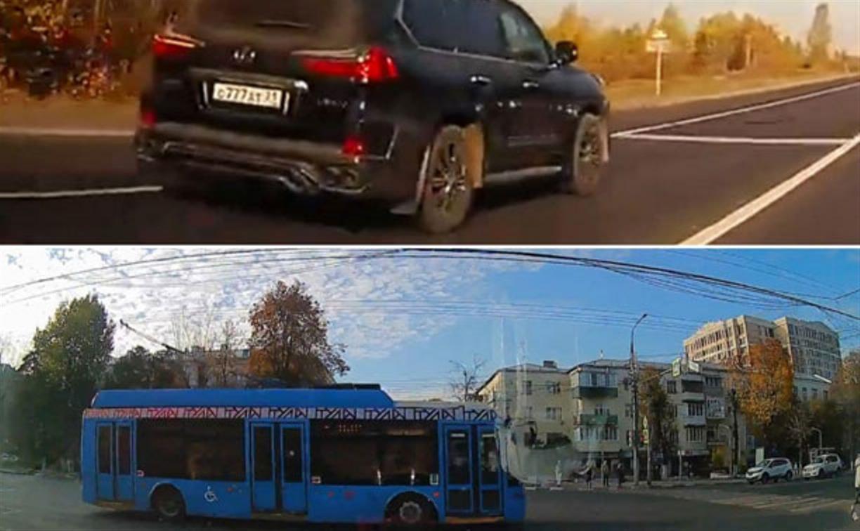 «Накажи автохама»: за нарушения оштрафованы водители троллейбуса и Lexus