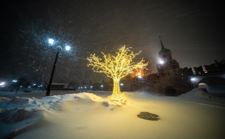 В Туле ночью бушевал буран: снежный фоторепортаж