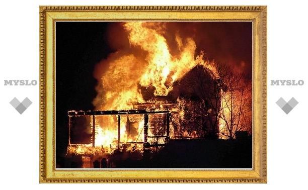 Тульские полицейские вынесли из горящего дома двух человек