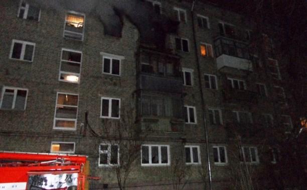 На пожаре в центре Тулы погиб пожилой мужчина