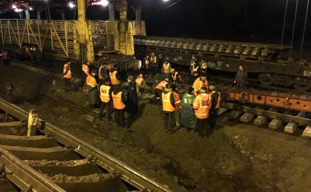 В Воловском районе ликвидировали последствия крушения поезда
