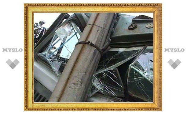 Под Тулой водитель «КамАЗа» врезался в столб