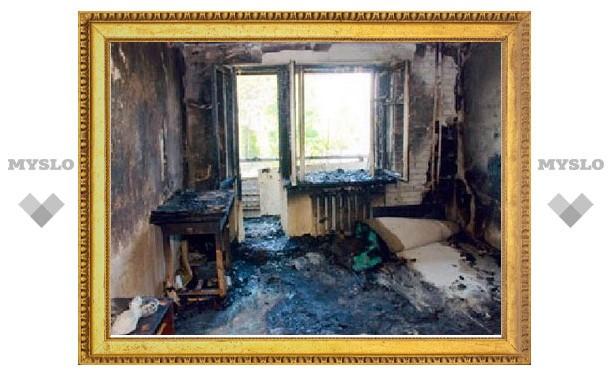 Ночью в Пролетарском районе Тулы сгорела квартира