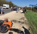 В Киреевском районе в тройном ДТП пострадал мотоциклист
