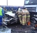 В Киреевском районе столкнулись ВАЗ-2115 и фура