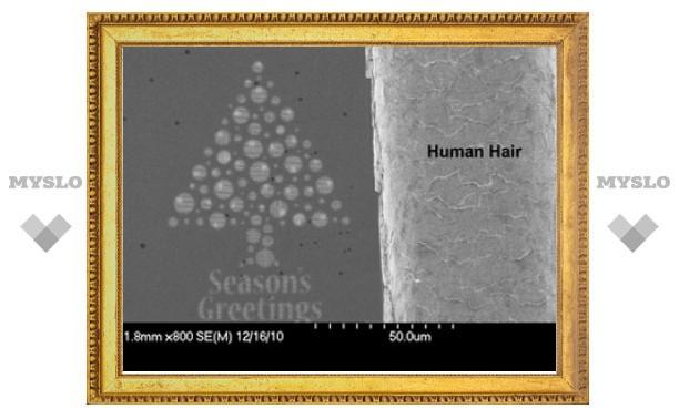 В Шотландии изготовили рождественскую нанооткрытку