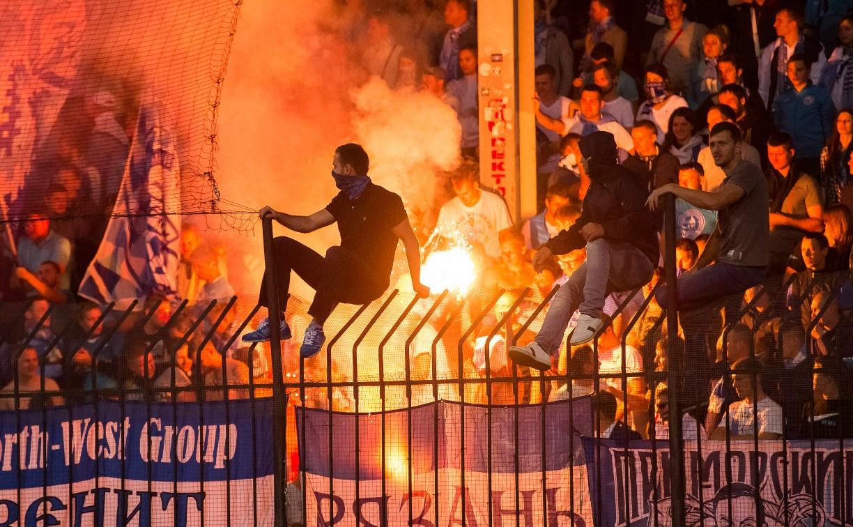 Полицейские привлекли к ответственности 14 футбольных болельщиков