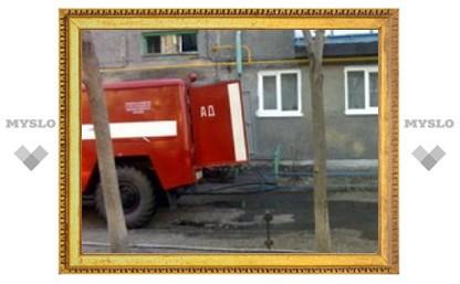 В Туле выгорел подвал жилого дома
