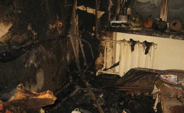 В Дубенском районе полностью сгорела дача