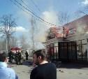 На проспекте Ленина загорелся магазин «Пизаста»
