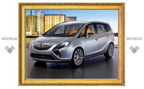 """Компания Opel рассказала подробности о прототипе новой """"Зафиры"""""""