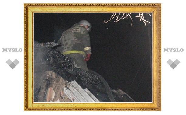 В Тульской области при пожаре погибли два человека