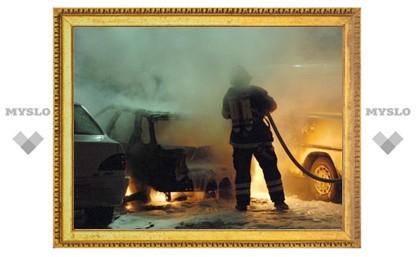 Под Тулой сгорели три машины
