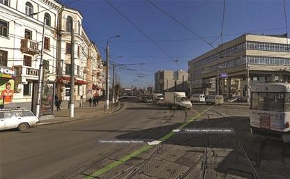 Пешеходный переход около Центрального банка оборудован неправильно!
