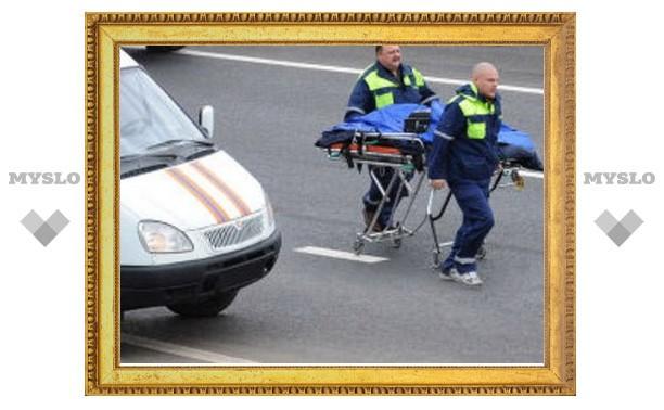 Под Тулой мотоциклист насмерть сбил пешехода и погиб сам