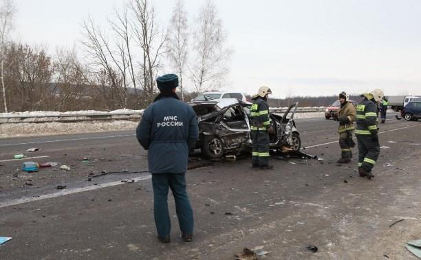 Крупное ДТП на трассе М2 под Тулой: Столкнулись 5 машин, погибли два человека