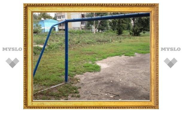 Почему в Туле не следят за спортивными площадками?