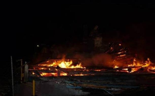 На пожаре в Ясногорском районе погиб 44-летний мужчина