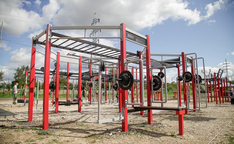 В Туле на набережной Упы появилась уникальная спортплощадка для занятий фитнесом и бодибилдингом