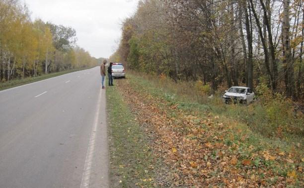 На М-4 «Дон» «Фольксваген» съехал в кювет и врезался в дерево